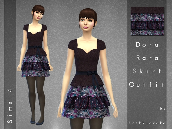 Dora RaRa Skirt and Top Outfit by hrekkjavaka