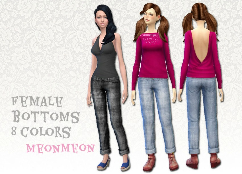Jeans for Females by Meonmeonsims