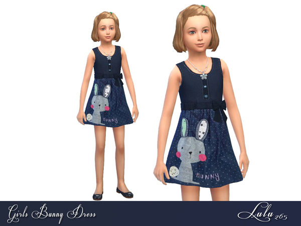 Girls Bunny Dress by Lulu265