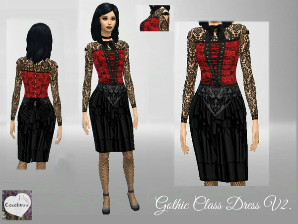 Gothic Class Dress V2 by Cocobuzz