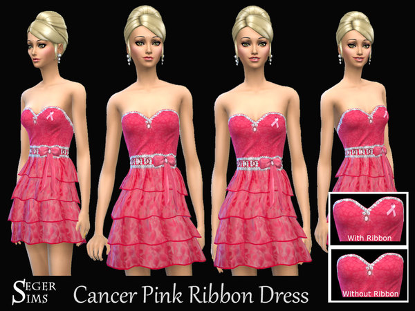 Cancer Pink Ribbon Dress by SegerSims