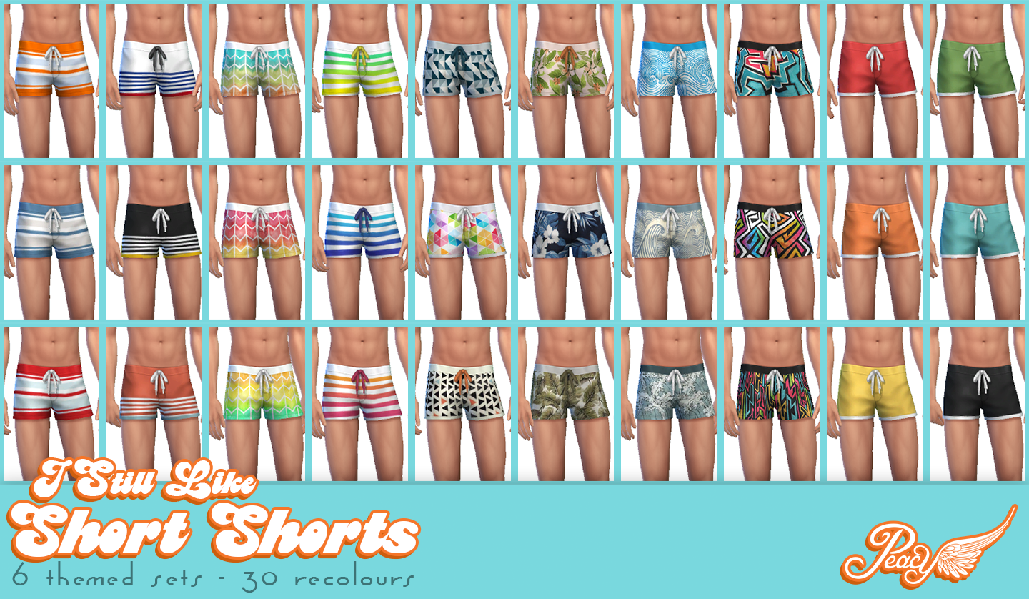 I Still Like Short Shorts - TS4 bottoms for Men by Peacemaker ic