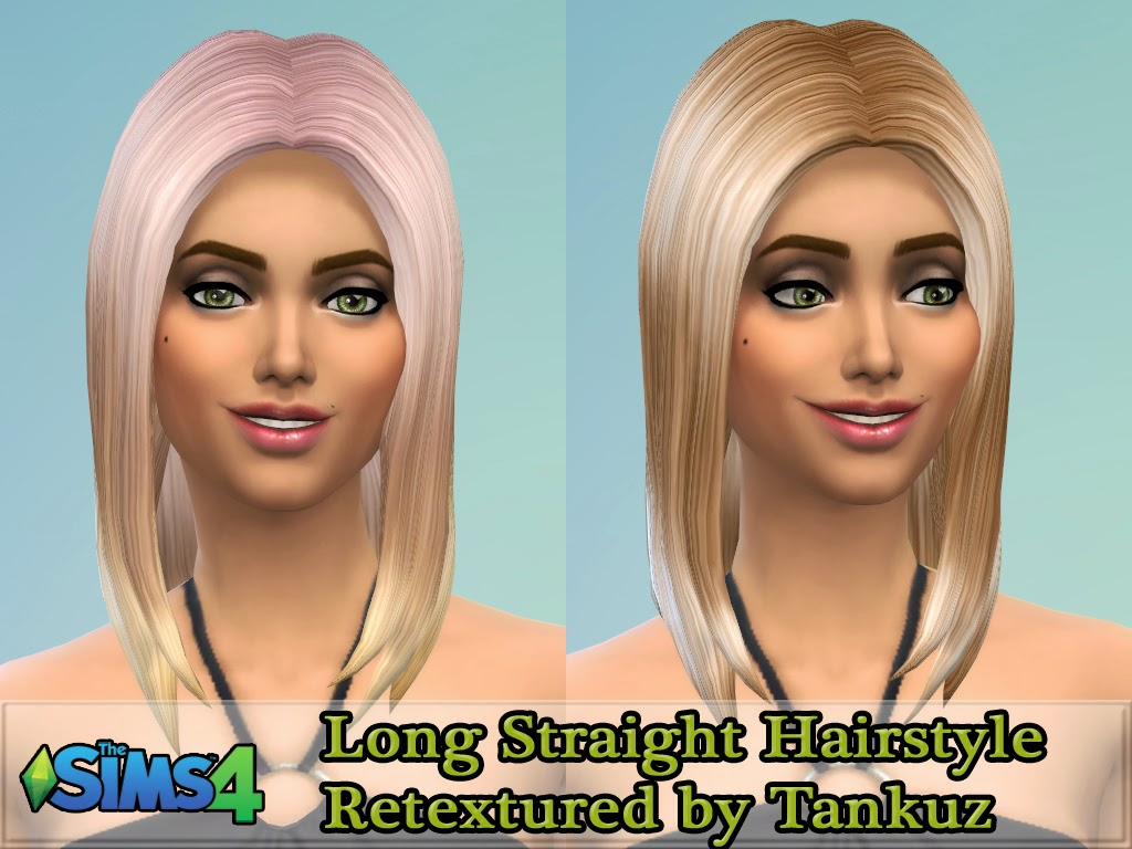Long Straight Hairstyle Retexture by Tankuz