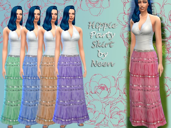 Hippie Party Skirt by neenornina