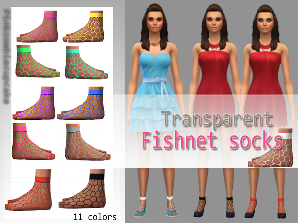 Transparent fishnet socks by Pinkzombiecupcakes