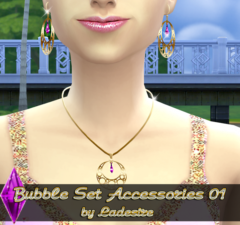 Bubble Set Accessories 01 by Ladesire (New Mesh+7 recolors)