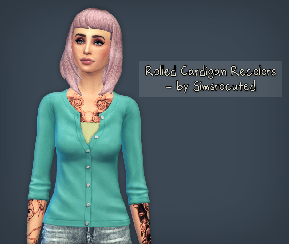 Rolled Cardigan Recolors by Simsrocuted
