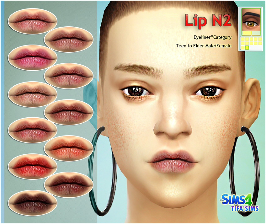 Lips for Males & Females by Tifa