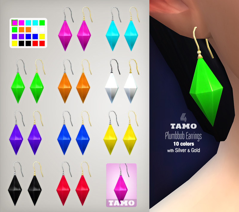 Plumbob Earrings for Females by Tamo
