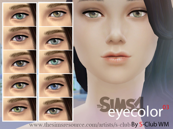 S-Club WM thesims4 eyecolors nondefault replacement 03