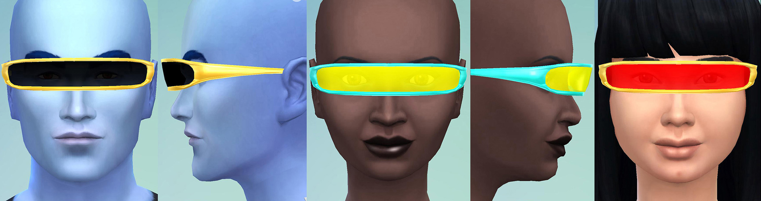 Cyborg Visor (TS4 Version) by Esmeralda