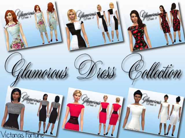 Victorias Fortune Glamorous Dresses by fortunecookie1