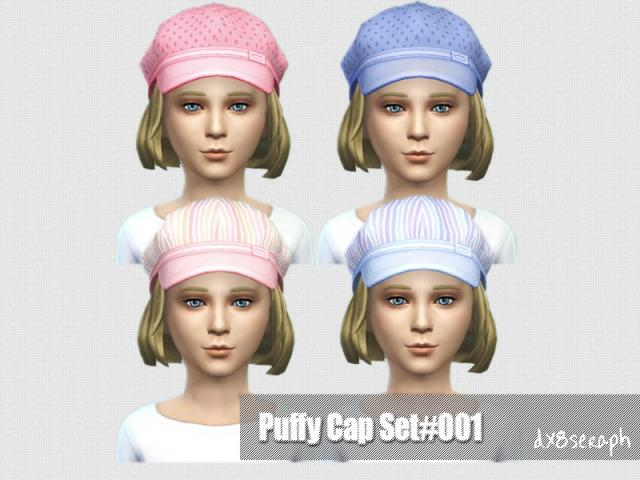 Child Puffy Cap Set#001 by dx8seraph