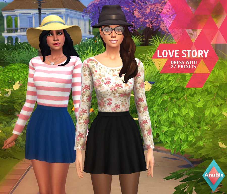 Love Story Dress with 27 Presets for Teen - Elder Females by Anubis360