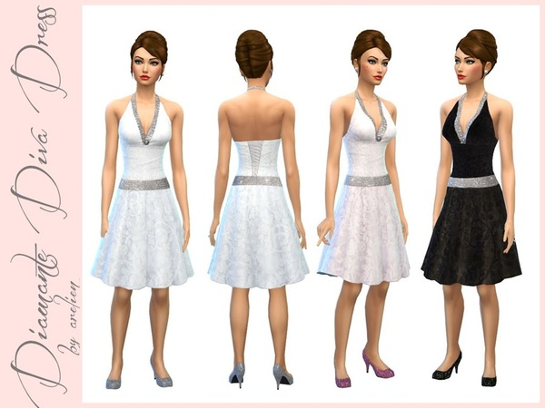 Diamante Diva Dress by Arelien