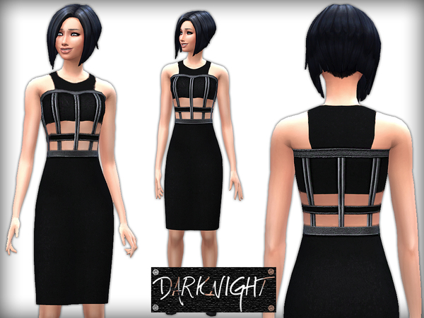 Halter Neck Pencil Dress With Leather Insets by DarkNighTt