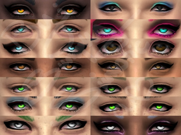 SS-EYESET1-SPARKLE/WRECK by SiMPLYSiMSTASTIC