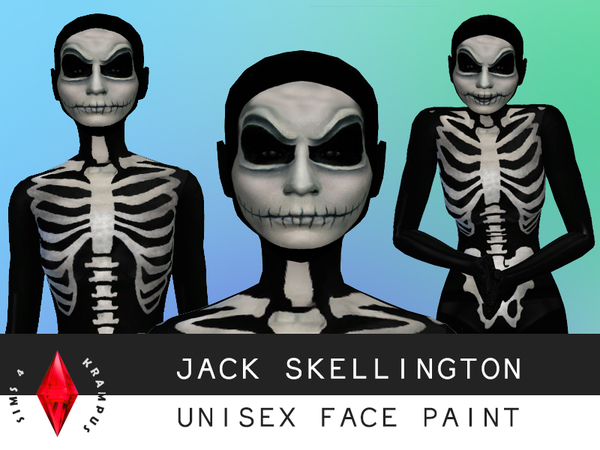 Jack Skellington Unisex Face Paint by SIms4Krampus