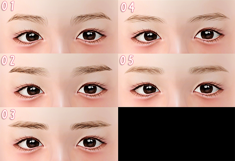 Natural eyebrow by Pu Chi House
