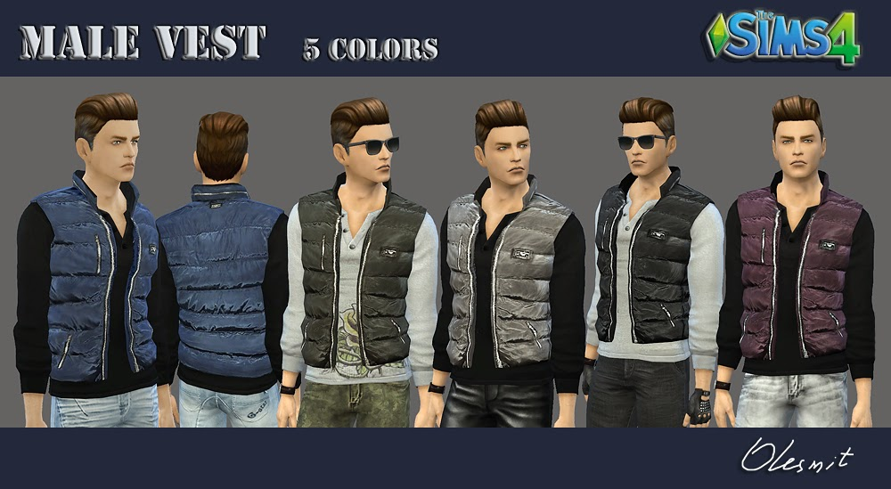 Shirt with Vest for Males by Olesmit