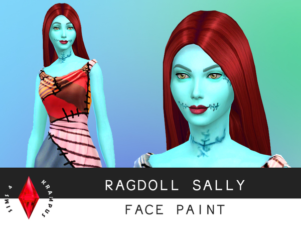 Ragdoll Sally Face Paint by SIms4Krampus