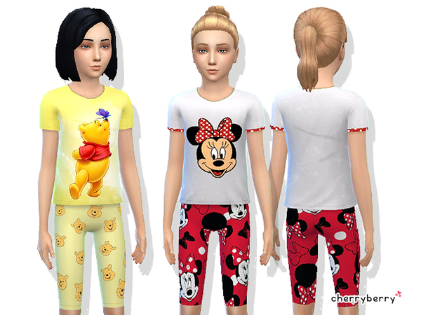 Cute sleepwear set for girls by CherryBerrySim