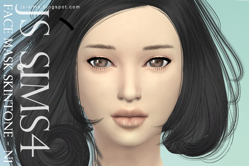 Face Mask Skintone N1 by JS Sims 4