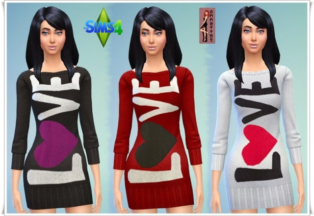 "Sweater Dresses ""Love"" by Annett"