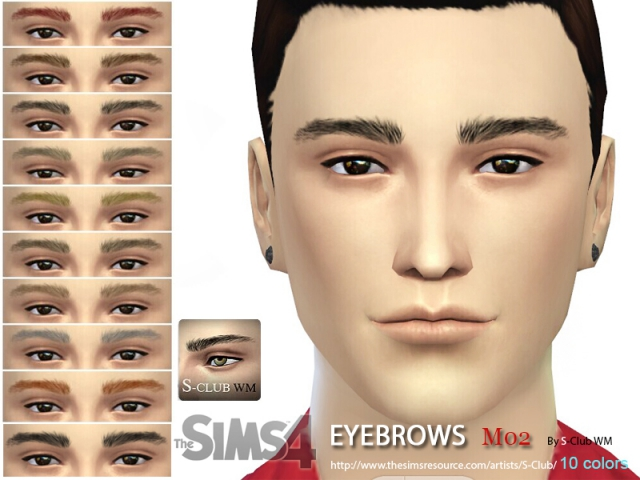 WM thesims4 Eyebrows M02 by S-Club