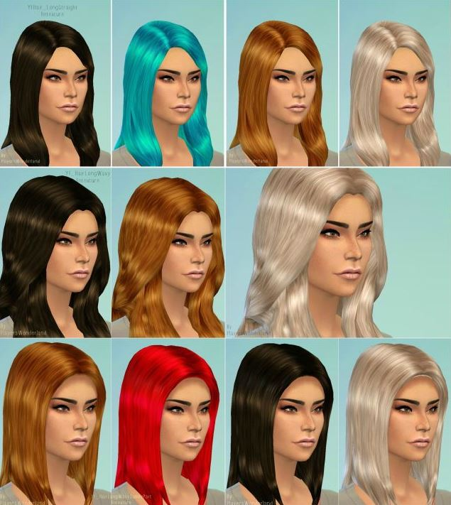 Long Female Hair Retexture by PlayersWonderland