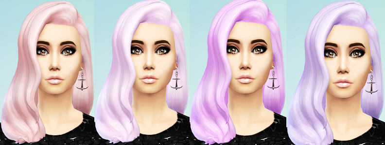 Pastel Hair Recolors by Ohmyglobsims