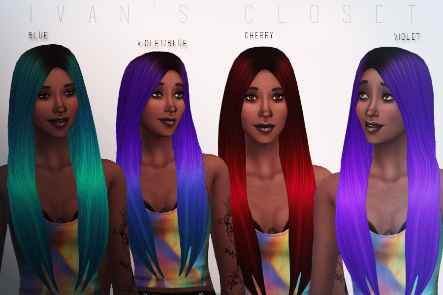 David Sims Classic Long Hair Recolors by Ivanscloset