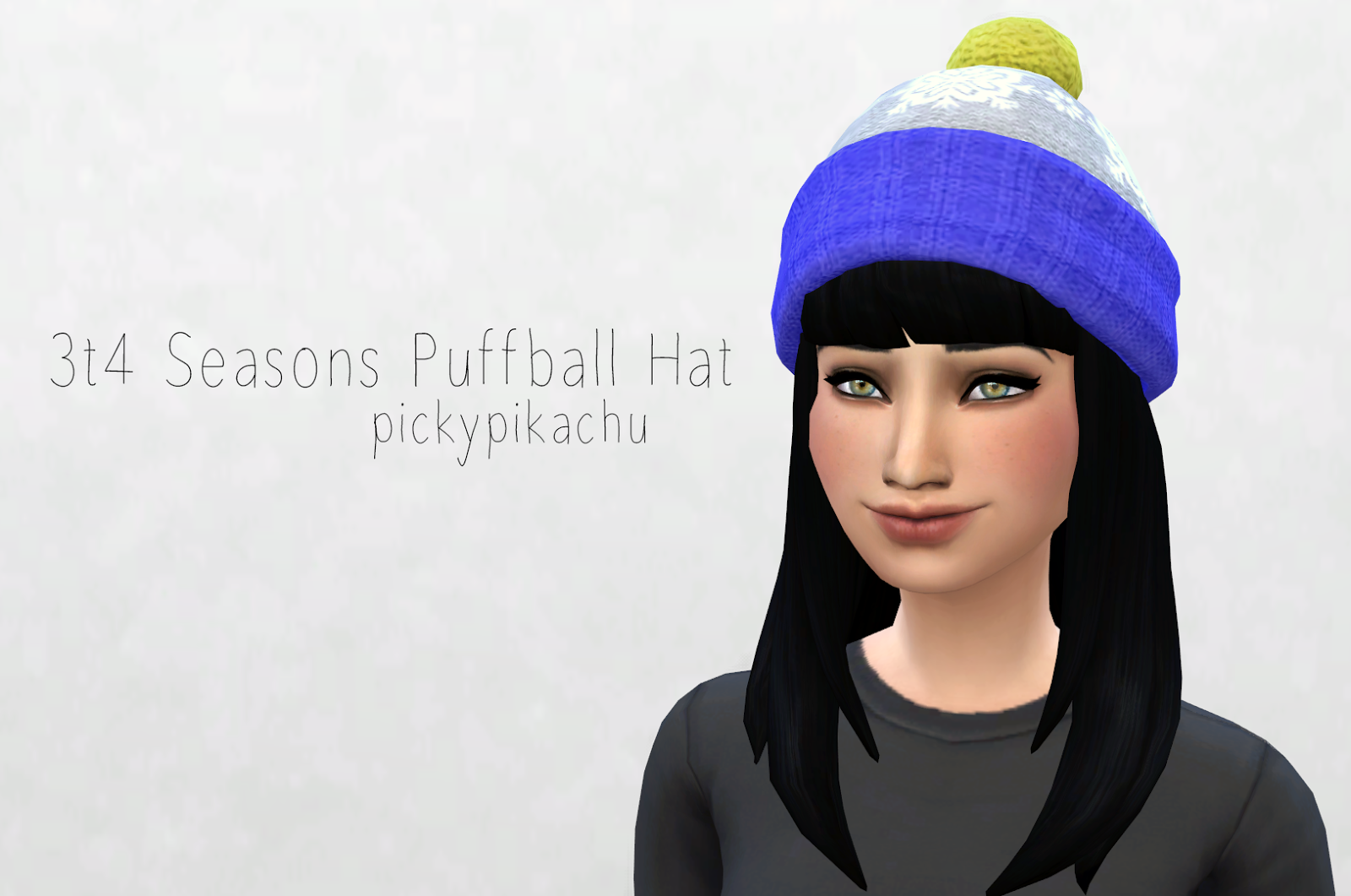 TS3 to TS4 Seasons Puffball Hat by Pickypikachu