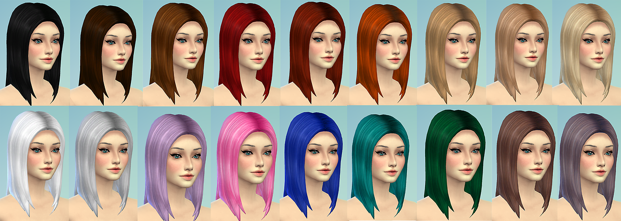 Long Straight Hair Retexture by Sevenhills