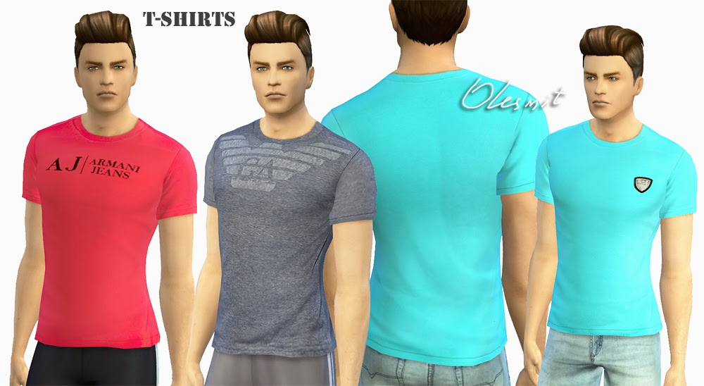 Male T-Shirts and denim shorts by Olesmit