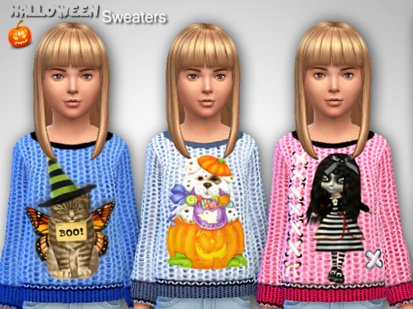 Halloween Sweaters by Pinkzombiecupcakes