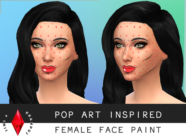 Pop Art inspired Face Paint by SIms4Krampus