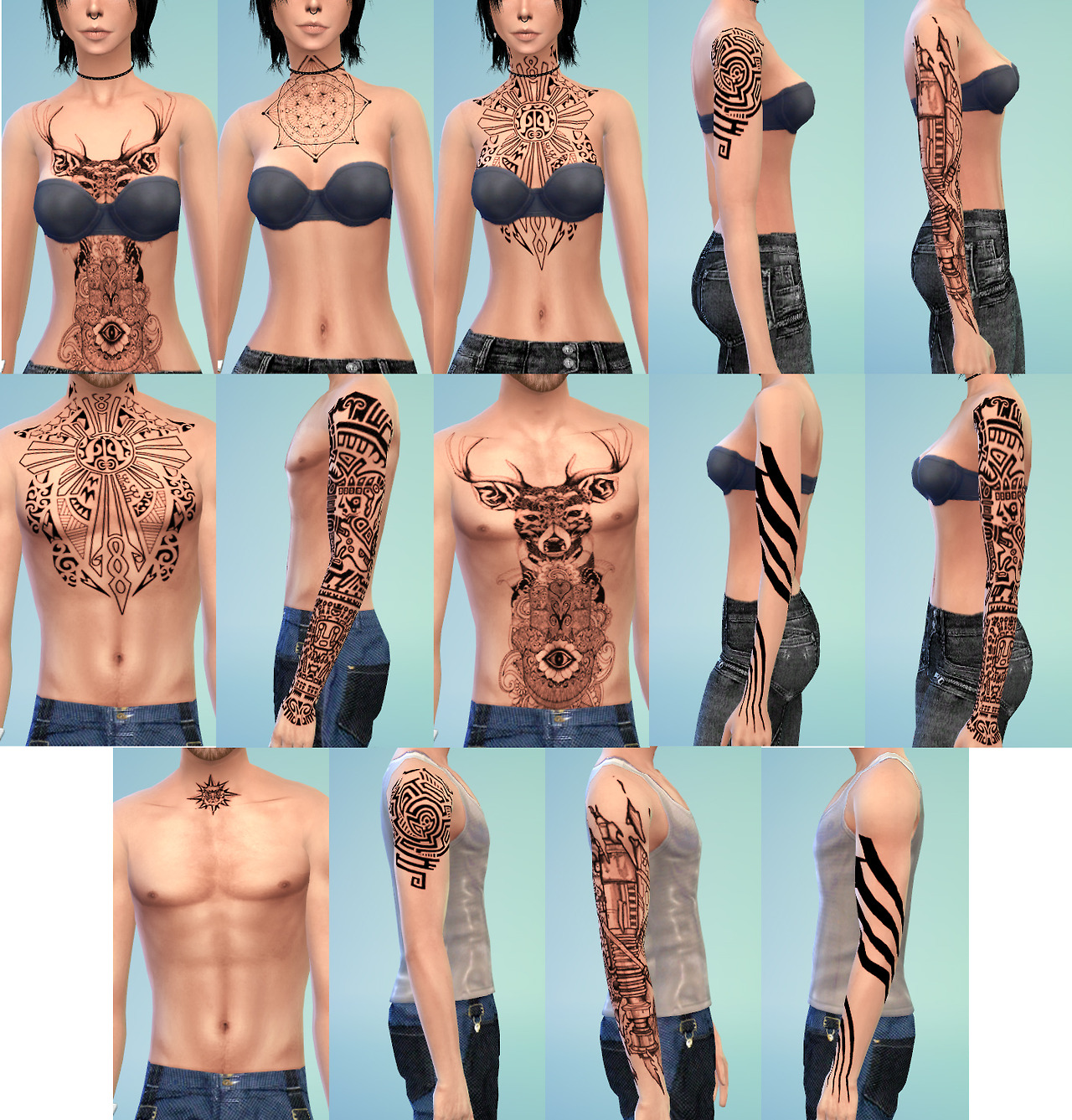 RANDOM TATTOO SET #3 at Onelama