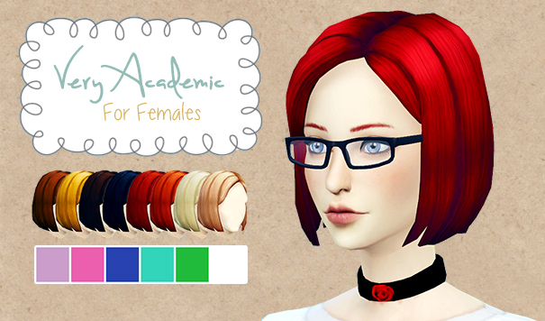 EverythingNotSims Academic Hair for Females