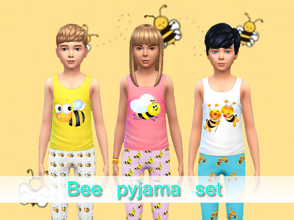 Bee pyjama set by Pinkzombiecupcakes