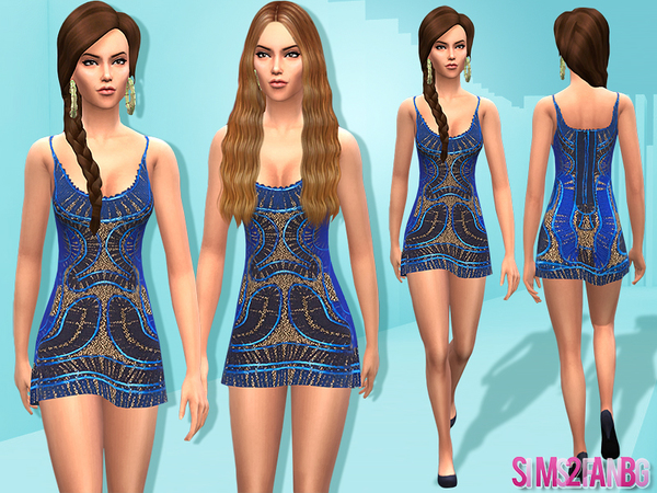 09 - Female designer dress by sims2fanbg