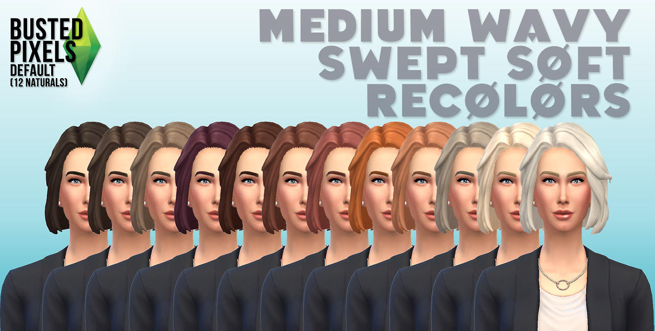 Natural Hair Recolors by Busted Pixels