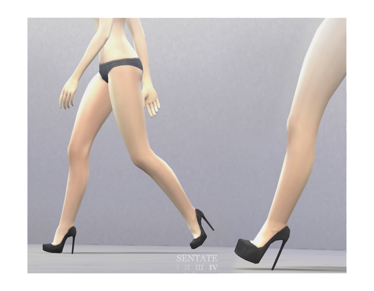 Dina Court and Skyscraper Heels by Sentate