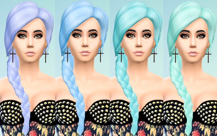 Missfortunesims Calypso Hair Recolors by Ohmyglobsims