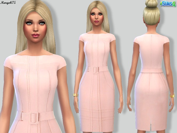 Sims 4 Moschino Chic Dress by Margeh-75