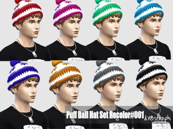 Puff Ball Hat Set#001 by dx8seraph