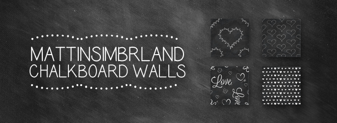 Chalkboard walls at Matt In Simblrland