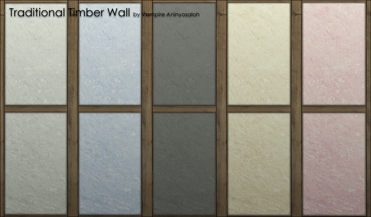 Traditional Timber Wall -5 colors- by Vampire_aninyosaloh