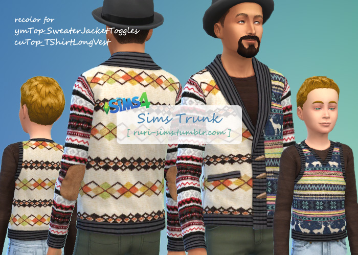 YMTop & CUTop Multi-Color Knit by Ruri