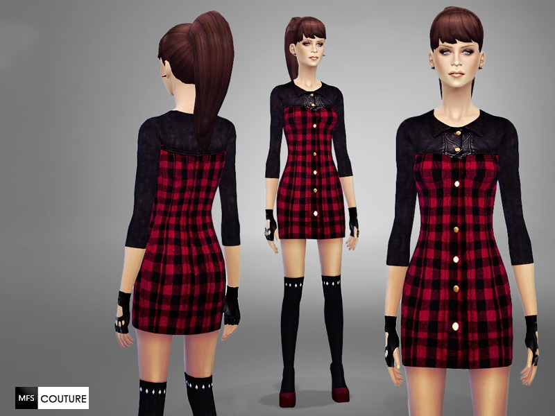Tartan Mini Dress by MissFortune